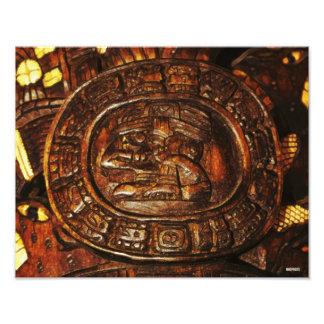 Mayan Carving HDR Image Photo