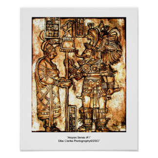 Mayan Carvings Photo Series #1 Poster