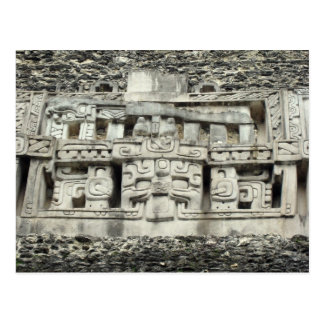 Mayan carvings postcard