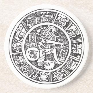 Mayan circle, Mexican hieroglyph(Maya) Coaster