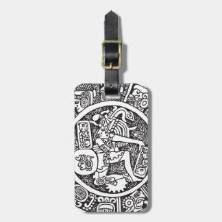 Mayan circle, Mexican hieroglyph(Maya) Tag For Luggage