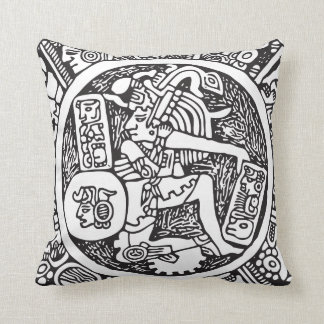 Mayan circle, Mexican hieroglyph(Maya) Throw Pillow