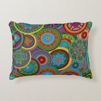 Mayan Circle Pattern Background Accent Pillow