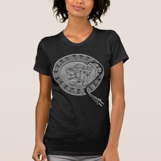 Mayan Computer Carrier -b/w Tshirt