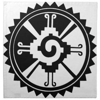 Mayan Deity Symbol Hunab Ku Cloth Napkin