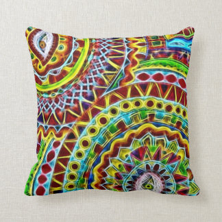 Mayan Disguise Fractal Art Plush Throw Pillow