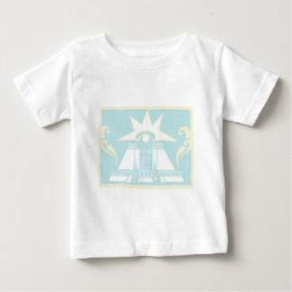Mayan Double Pyramid with Venus Eye Glyph Baby T-Shirt