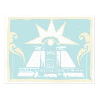 Mayan Double Pyramid with Venus Eye Glyph Postcard