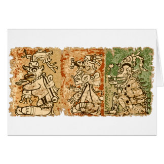 Mayan Dresden codex Greeting Card