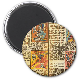 Mayan Dresden Codex Excerpts 2 Inch Round Magnet