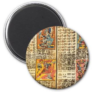 Mayan Dresden Codex Excerpts Fridge Magnets
