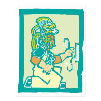 Mayan Electrician Postcard