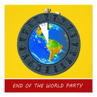 Mayan End of the World Stopwatch Party Invitation