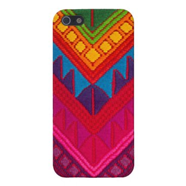 Aztec Themed Mayan ethnic Colorful textile Iphone 5 case