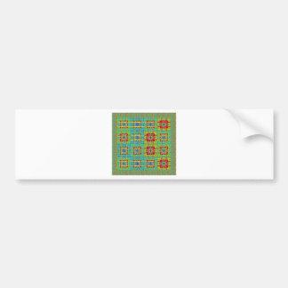 Mayan ethnic tribal pattern.jpg car bumper sticker