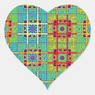 Mayan ethnic tribal pattern.jpg heart sticker