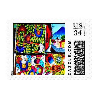 Mayan Folkart postage stamp