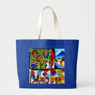 Mayan Folklore Mural recycle bag