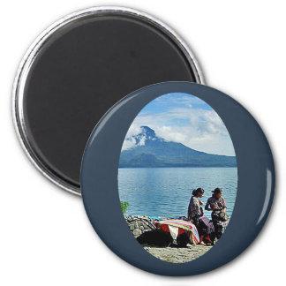 Mayan Girls at Lago Atitlan 2 Inch Round Magnet