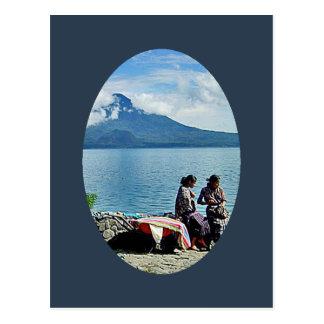 Mayan Girls at Lago Atitlan Postcard