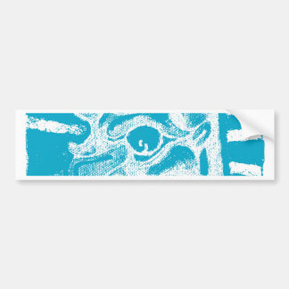 mayan glyph (blue) bumper sticker