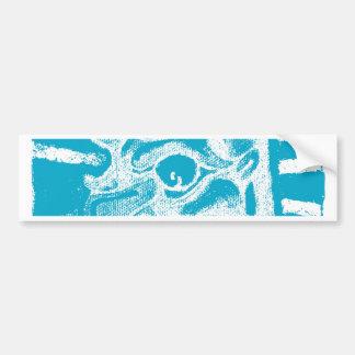 mayan glyph (blue) bumper sticker
