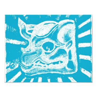 mayan glyph (blue) card