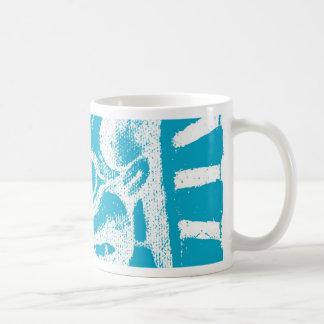 mayan glyph (blue) classic white coffee mug