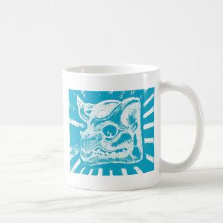 mayan glyph (blue) coffee mugs