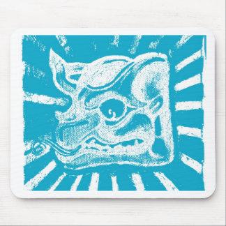 mayan glyph (blue) mouse pad