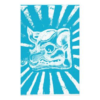 mayan glyph (blue) personalized stationery