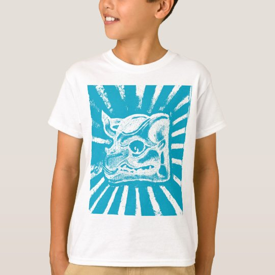 mayan glyph (blue) T-Shirt