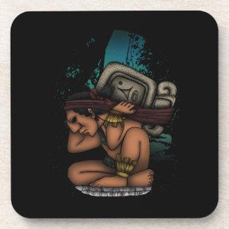Mayan God Beverage Coaster