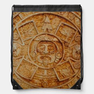 Mayan God Calendar Drawstring Backpack
