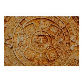 Mayan God Calendar Postcard