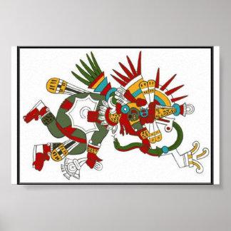 Mayan God Kukulcan Poster