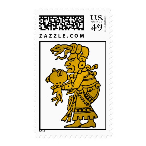 Mayan God of the North Star Stamps