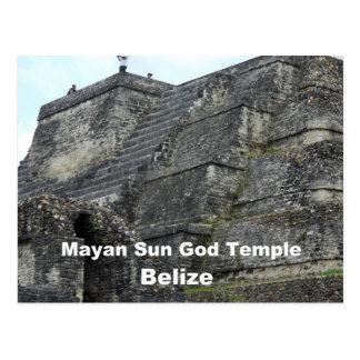 Mayan God Sun Temple, Belize Postcard