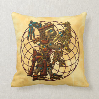 Mayan God Throw Pillow