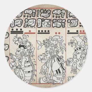 Mayan Gods Classic Round Sticker