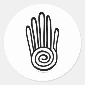 Mayan Hand - Black (Digital) Sticker