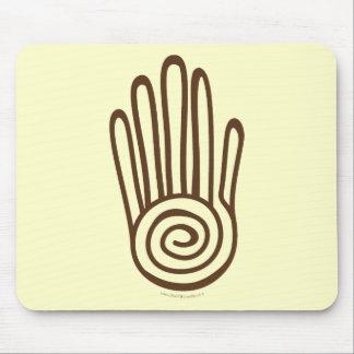 Mayan Hand - Brown (Digital) Mousepad