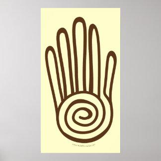 Mayan Hand - Brown (Digital) Print