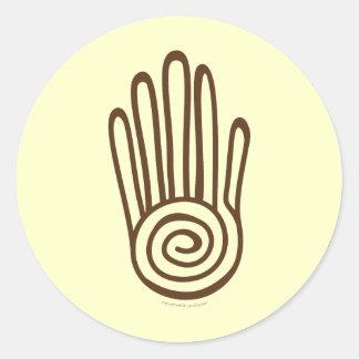 Mayan Hand - Brown (Digital) Sticker