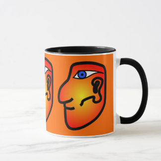 Mayan Head Ceramic Mug
