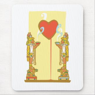 Mayan Heart Mouse Pad