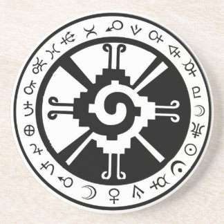 Mayan Hunab Ku Creator & Planetary Symbols Drink Coaster