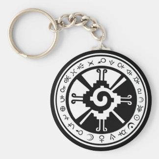 Mayan Hunab Ku Creator & Planetary Symbols Keychain