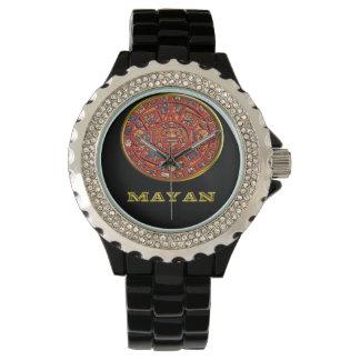 Mayan Indian art Wristwatch