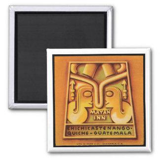 Mayan Inn Guatamala Travel Poster Magnet
